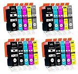 20 Cartucce Per Stampanti con Chip compatibile con Canon PGI-525 / CLI-526 per Canon Pixma MG-6150 MG-6200 MG-6250 MG-8150 MG-8200 MG-8240 MG-8250