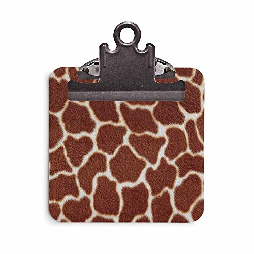 Sticky Note Clipboard - Stationery Business Office School Supplies - Gift Idea (Giraffe Print)