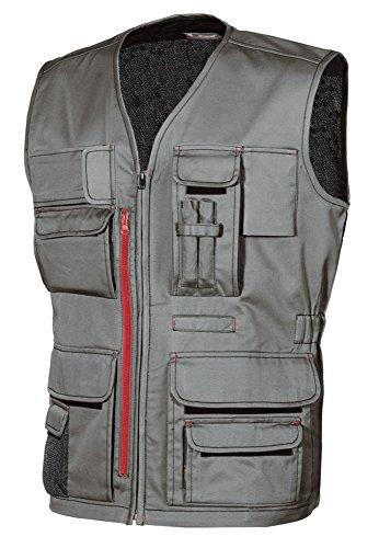 U-Power HY018SG-XL HY018SG-XL-Gilet Gamma Happy Modello Fun Stone Grey Taglia, Piedra Gris, XL Unisex-Adulto
