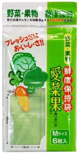 関西紙工 鮮度保持袋 愛菜果 Mサイズ 6枚入