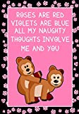 Roses are Red Violets are Blue all my naughty thoughts involve Me and You: Journal, Funny valentine's day gift for her or for him - lined notebook (Snarky, Sassy and a little Naughty)