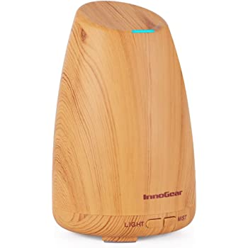 InnoGear Real Bamboo Essential Oil Diffuser, Ultrasonic