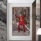 JHGJHK Pintura al óleo de Arte Moderno película de Payaso Heath Ledger Pintura al óleo decoración de la Sala de Estar del hogar Pintura 4