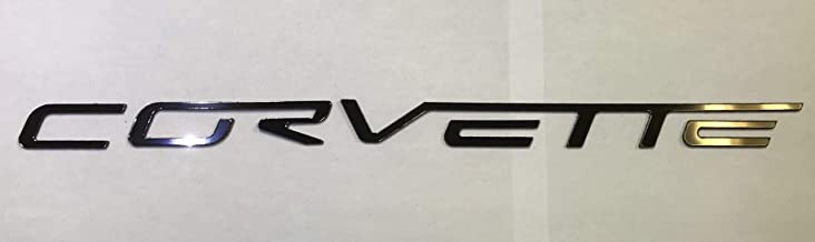 SF Sales USA - Gunmetal Chrome Dashboard or Bumper Letters fit Corvette C6 2005-2012 Plastic Inserts Not Decals