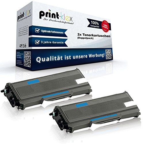 2x Kompatible Tonerkartuschen für Brother HL-L2300 Series HL-L2300D HL-L2320D HL-L2321D HL-L2340DW HL-L2360DN HL-L2360DW HL-L2361DN HL-L2365DW HL-L2380DW TN 2360 - Doppelpack