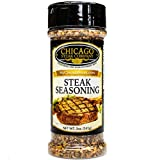 Chicago Steak Seasoning- Spice Up your Steak w/ Gourmet Seasoning! No MSG Seasoning features Natural Flavors, Dried Herbs and Spices- Premium Original Steak Seasoning for Juicy, Tender & Savory Steaks