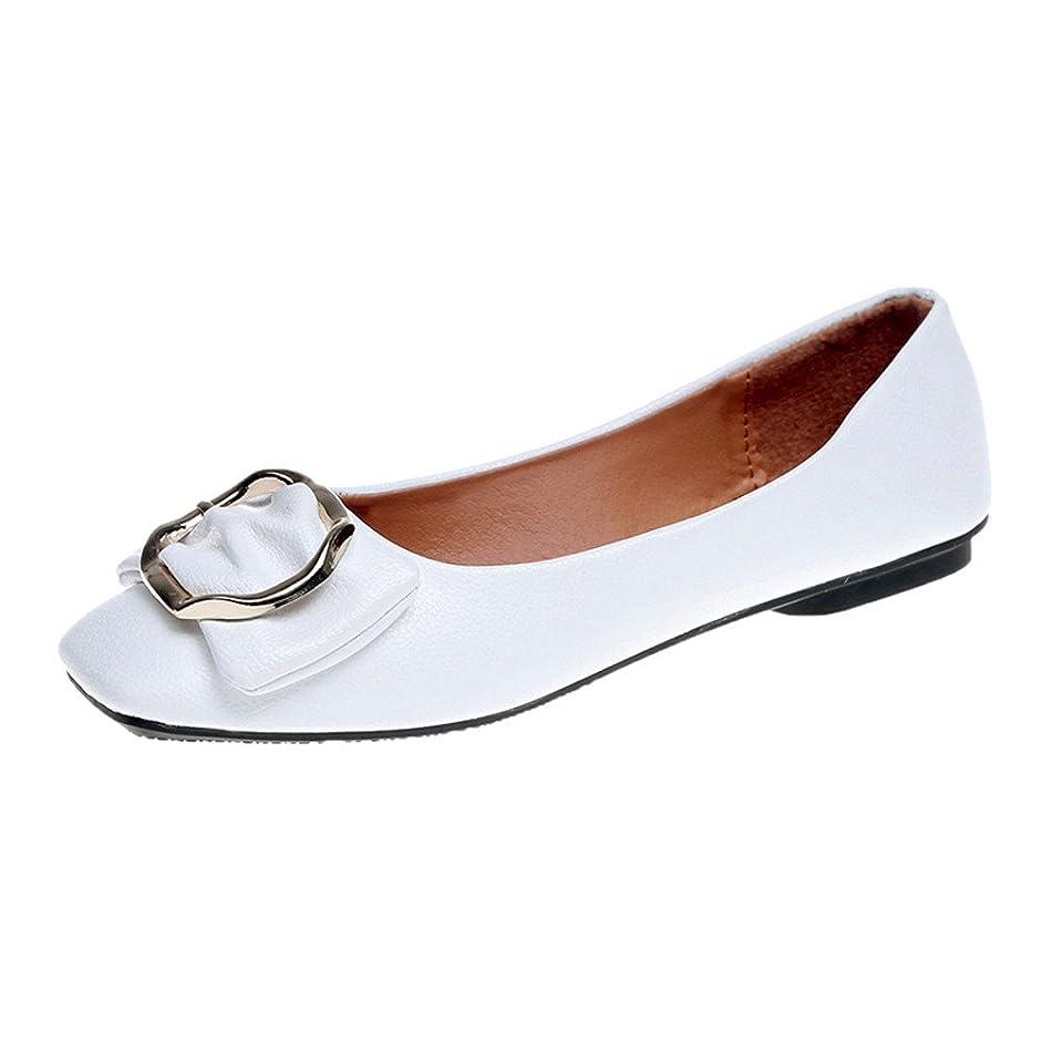 シーン誤灌漑レディースフラットシューズHodarey 女性 弓 スクエアヘッド スクエアバックル 浅シングルシューズ 歩きやすい 通気性 おしゃれ プラットシューズ ファッション カジュアル シューズ 女性の靴 アウトドアトシューズ 通勤 通学 普段着
