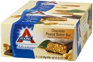 Atkins Chocolate Peanut Butter Advantage Bar 2.1 oz - 12 ct. (PACK OF 2)