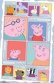 Trends International Peppa Pig Grid Wall Poster 22.375  x 34