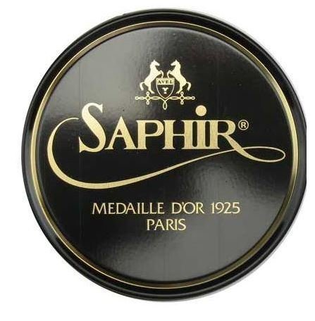 Saphir Medaille D'or 1925 Pate De Luxe Black 50ml Wax Shoe Polish