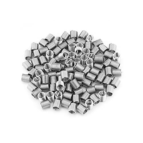 UTDKLPBXAQ 100pcs M8x1.25x2D Inserción de Hilo de Alambre de Acero Inoxidable Sólido de Alta Resistencia Resistente al Desgaste Reparación elástica Resistente al Desgaste Resistente al Desgaste para
