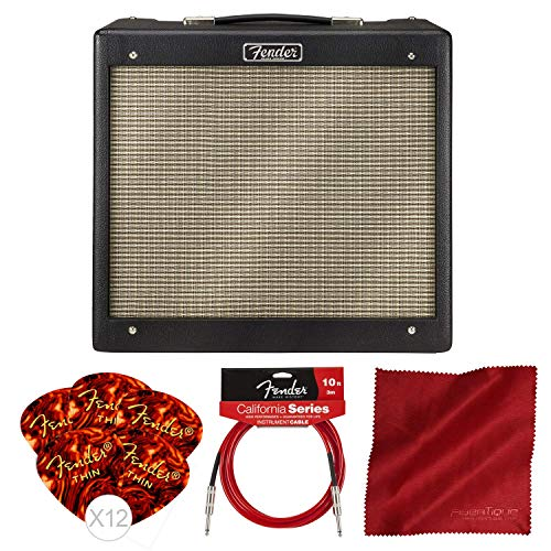 Fender Blues Junior IV 15 Watt Electric Guitar Amplifier with Instrument Cable and Bundle Connecticut