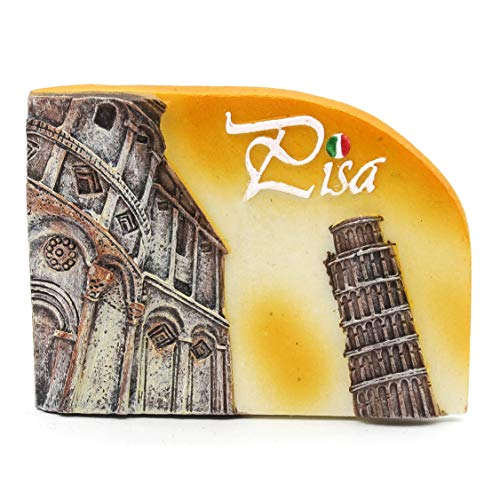 Torre di Pisa Pisa Italien 3D Handgemalte Harz Magnet Roman Rom Italienisch Venizia Kathedrale Kolosseum Venedig Brunnen Trevi Vatikan Florenz Pisa Lehnend Mailand Neapel Gondel Toskana Toscana Orange