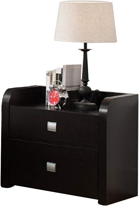 Benzara Beautiful Nightstand with 2 Storage Drawers, Dark Brown Night Stand
