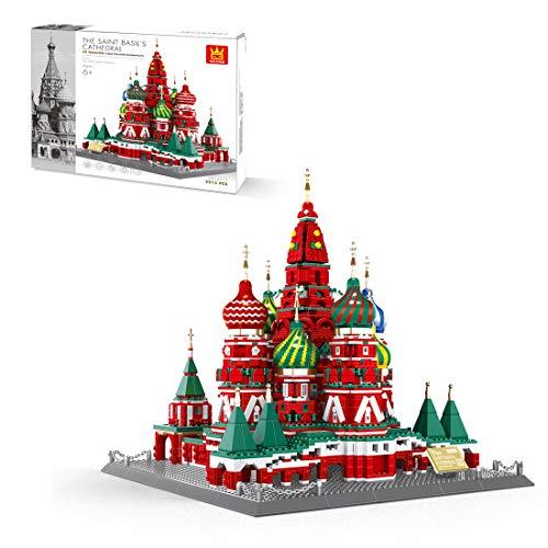 HYZM Architektur St. Petersburg Kirche Bausteine, 3213 Teile Russland Architekturmodellbausatz, Architecture Modell Kompatibel mit Lego