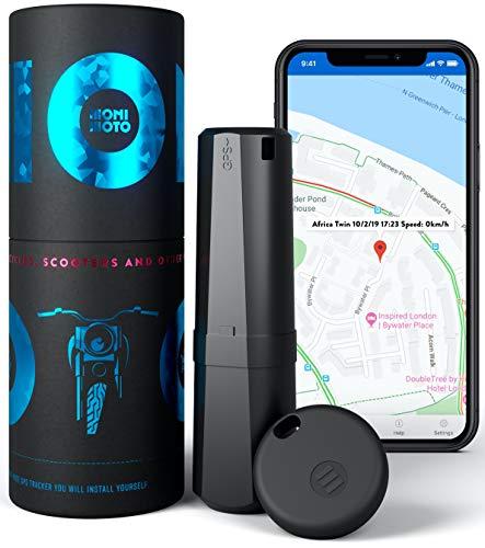 MoniMoto Smart GPS Tracker Alarmsystem für Motorrad, Scooter, Quad, Schneemobil (MM1 - EU)