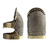 iwobi Aguja Ajustable para Coser, Aguja de Metal, Agujas de Coser Herramienta de protección para Costura de Bordado, Costura