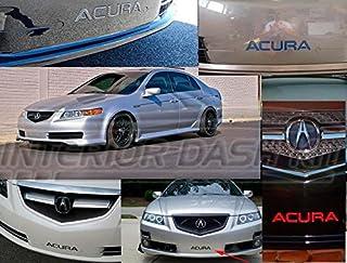 2004 2005 2006 2007 2008 Parachoques Delantero Chrome Inserciones Letras del Logotipo del Emblema del Ajuste fijado para el Acura TL y TL Type-S