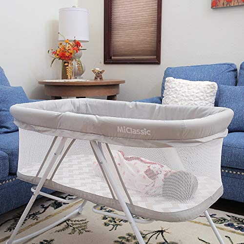 MiClassic All mesh 2in1 Stationary & Rock Bassinet