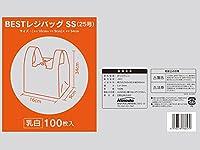 BESTレジバックSS 0.013X250(160)X340 マチ90mm エンボス加工乳白色 3000枚入り