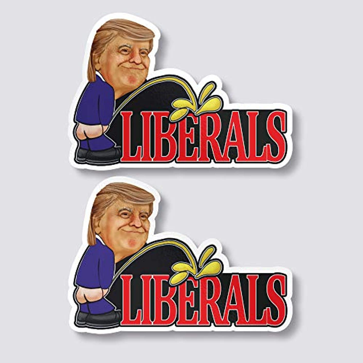 Set of 2 Trump Peeing On Liberals 5