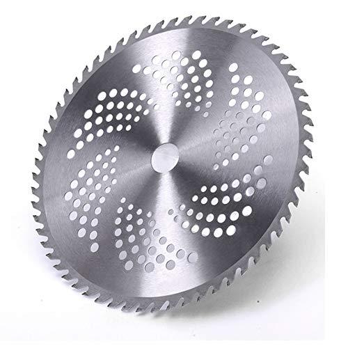 Durable 60 dientes de aleación de acero al manganeso Reemplazo de la cuchilla del cortacésped Circular Cortador de hierba Cepillo Hoja de sierra Cortar hierba Árbol