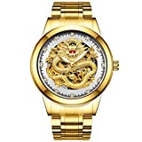 Desconocido Reloj mecánico para hombre, color dorado y plateado
