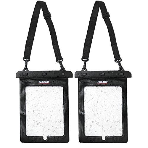 com-four Custodia Protettiva Impermeabile 2X - Custodia Antipolvere per Tablet ed e-Book Reader - Custodia Protettiva in Nero - 11,6  (02 Pezzi - 29.5x21cm)