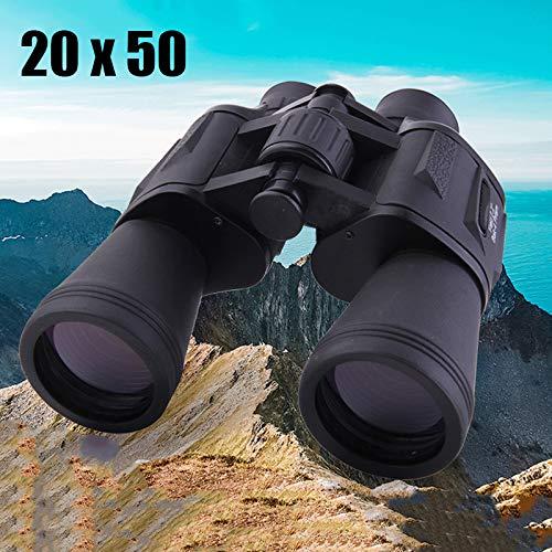 IOIOA 20X50 HD Haute Puissance Binocular, BAK-4 Optique LLL Night Vision Telescope Non-Infrarouge pour l'extérieur Chasse Tourisme