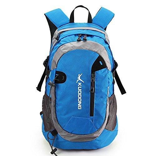 Outdoor peak Unisex Nylon wasserabweisend Ultrasport Wanderrucksack Radfahrrad Trekkingrucksack Reisetasche Laptop-Tasche Schultasche Bergsteigen Arbeitestasche . (BLAU)