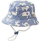 Malaxlx Unisexe Bob Bébé Enfant Chapeau de Soleil Animaux Bleu Clair Chapeau de Pêcheur...