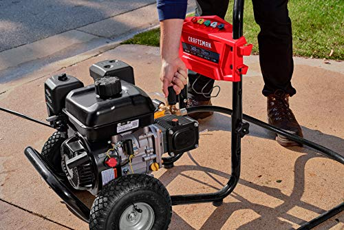 CRAFTSMAN 3400 MAX PSI at 2.4 GPM Gas Pressure Washer with Adjustable Pressure Pump, 30-Foot High-Pressure Hose, and 5 Quick-Connect Nozzles, Powered by Briggs & Stratton