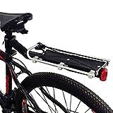 Portaequipajes Bicicletas,Portaequipajes Bicicletas De Aluminio con Reflector Portaequipajes para Tija De Sillín De Ciclismo De Liberación Rápida Capacidad De Carga Máxima 25 Kg