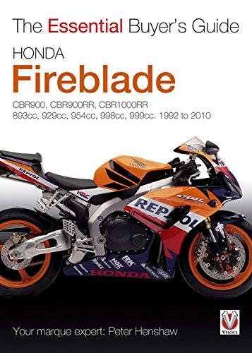 Honda CBR Fireblade: 893cc, 918cc, 929cc, 954cc, 998cc, 999cc, 1992-2010