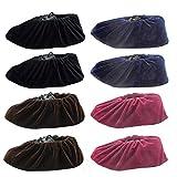 Nuluxi Antideslizantes Transpirables Cubrezapatos Cubrezapatos a Prueba de Polvo Antideslizantes Reutilizables Zapatos Cubren Adecuado para el Hogar Taller Libre de Polvo Inodoro y Baño (4 Pares)