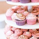 4-Etagen Cupcake Ständer, Tortenständer, Klar Runde Acryl – Hält bis zu 30 Cupcakes! Elegant Desserts Muffin Sushi Halter – Hoch Qualität & Haltbarer für Hochzeit, Geburtstage, Baby-Duschen. - 4