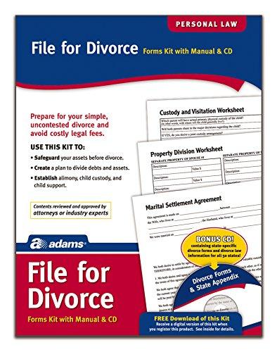 Adams Kit de divórcio, formulários e instruções, inclui CD (K302)