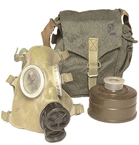 Gasmaske mit Schlauch und Filter