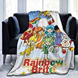 Sunwilam Fuzzy   Child   Animals Jacquard Rainbow Brite Breathable Blanket All Seasons for Couch, Bed, Sofa, Bedroom, Living Room, Travel 50'X40'