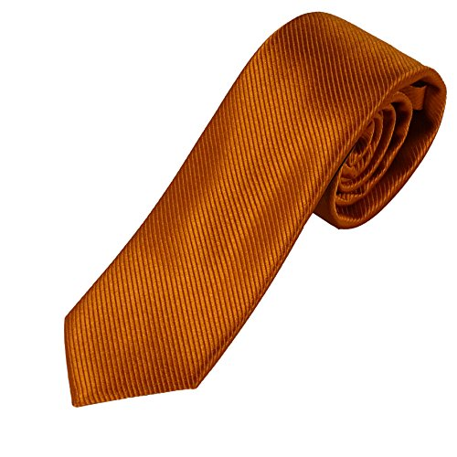 Krawatte orange dunkel - 100% Seidenkrawatte - Pietro Baldini Krawatten handgefertigt 150 * 7 cm (Dunkelorange)