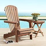 Cape Cod 28 3/4' Wide Natural Wood Adirondack Chair - Teal Island Designs
