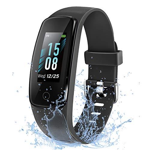 ETEKCITY Fitness Tracker, Fitness Armband, Smartwatch Wasserdicht Schrittzähler mit 14 Sportmodi, Kalorienzähler, Schlafmonitor, BPM Aktivitätstracker, Anruf SMS, Fitness Uhr für Damen Herren