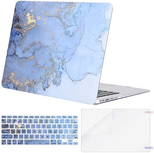 MOSISO Compatible with MacBook Air 11 inch Case Models A1370 A1465 Plastic Watercolor Marble product image