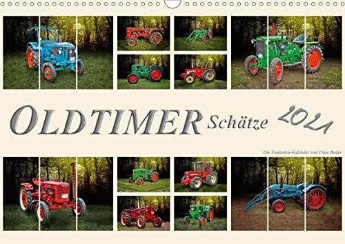 Oldtimer Schätze. Ein Traktoren-Kalender (Wandkalender 2021 DIN A3 quer)