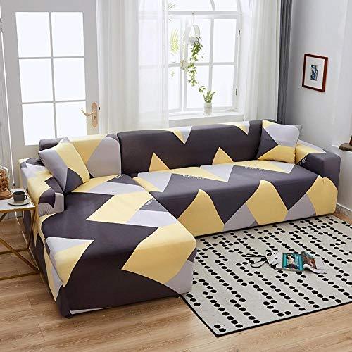 INFANDW Schonbezug Sofahusse, Stretch-Stoff, Couch-Bezug, Sofa-Möbelschutz, kompletter Bezug maschinenwaschbar(hellgrau, 2 Sitzer: 145-185cm)
