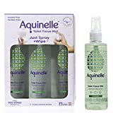 Aquinelle Toilet Tissue Mist Eco-Friendly & Non-Clogging Alternative to Flushable Wipes Simply Spray On Any Folded Toilet Paper (3-8.25 oz Rain Forest)
