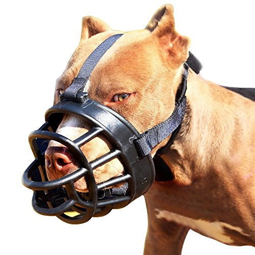 Dog Muzzle,Soft Basket Muzzle for Dogs,Adjustable and Comfortable Secure Pet Muzzle Fit for Medium Large Extra Dog,Best to Prevent Biting, Chewing and Barking, Allows Drinking and Panting 5