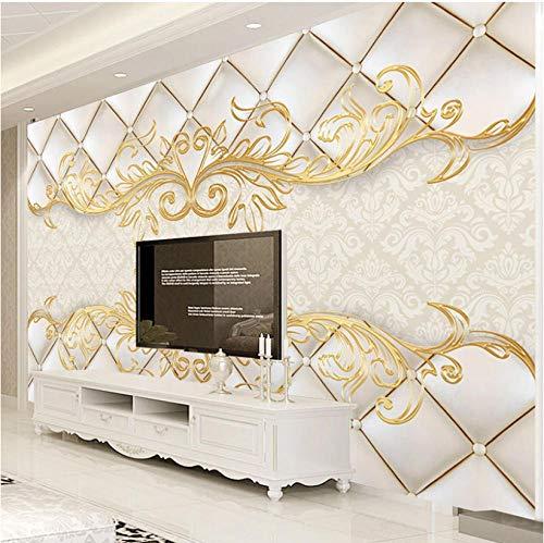 Fotobehang Fotobehang Thuis Aangepaste 3D Behang Muren Europese Stijl Damascus Bloem Patroon Luxe Woonkamer Slaapbank TV Achtergrond Home Decor Muurschildering