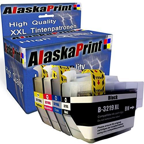 Alaskaprint 4 Pack Comp. Per Brother LC-3219XL LC3219XL LC 3219 XL cartucce per MFC J5330DW J5730DW J5335DW J5930DW J6530DW J6930DW J6935DW (Nero-Cyan- Magenta-Giallo)