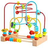 Timy First Bead Maze Roller Coaster Wooden Educational Circle Toy for...